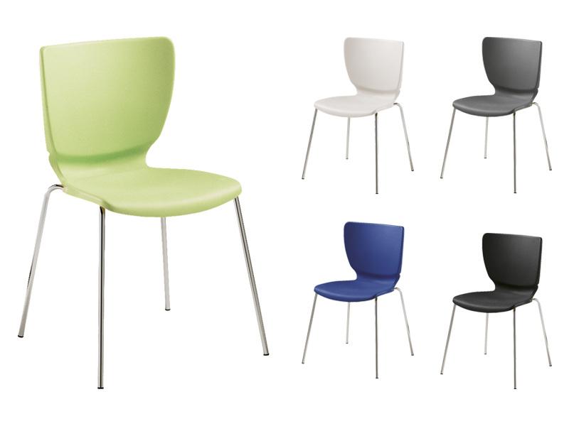 LIN Mono Colorplast Crom műanyag szék